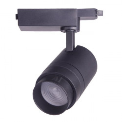 30W LED tracklight black, adjustable beam angle