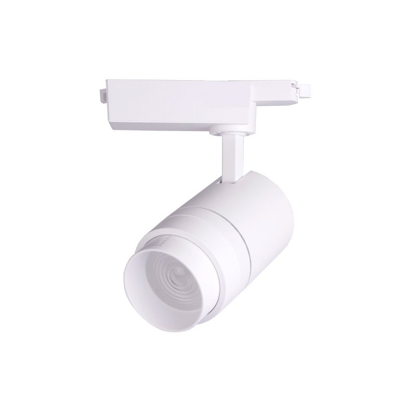 Foco carril led 30W blanco ángulo ajustable