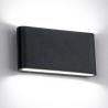 Aplique LED 2x6W IP65 color negro