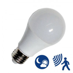 Light Bulb - E27, 9W motion + light sensor