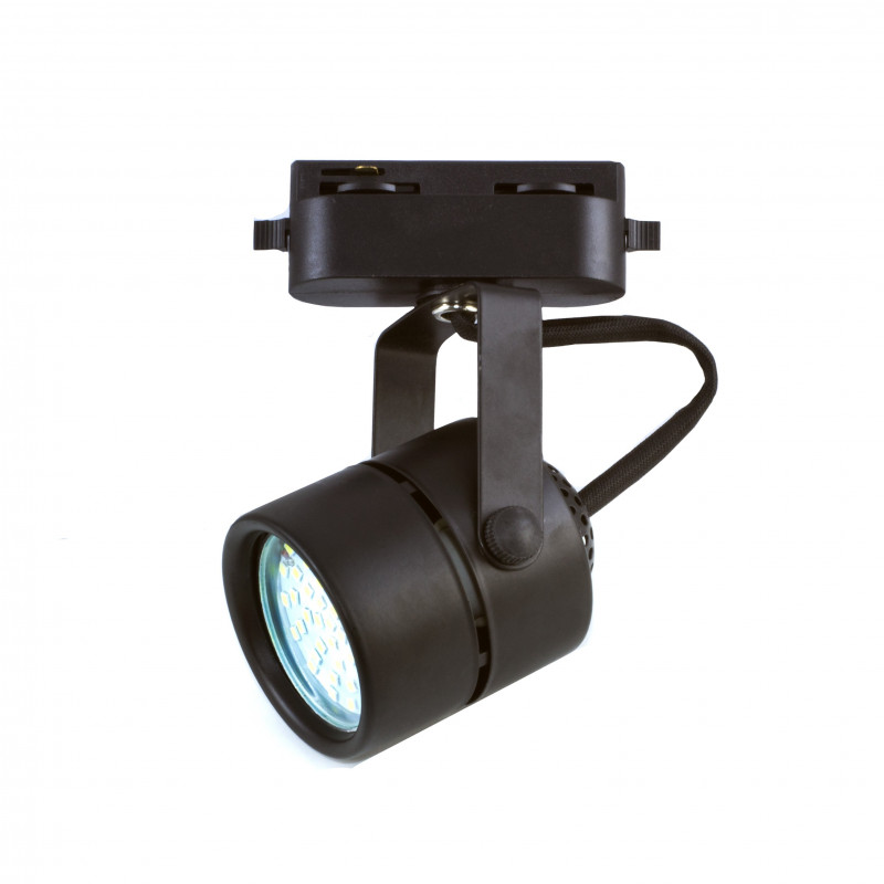 COMPACT Rail Spotlight - Black, GU10 Lamps
