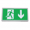 Luminaria evacuación LED función emergencia