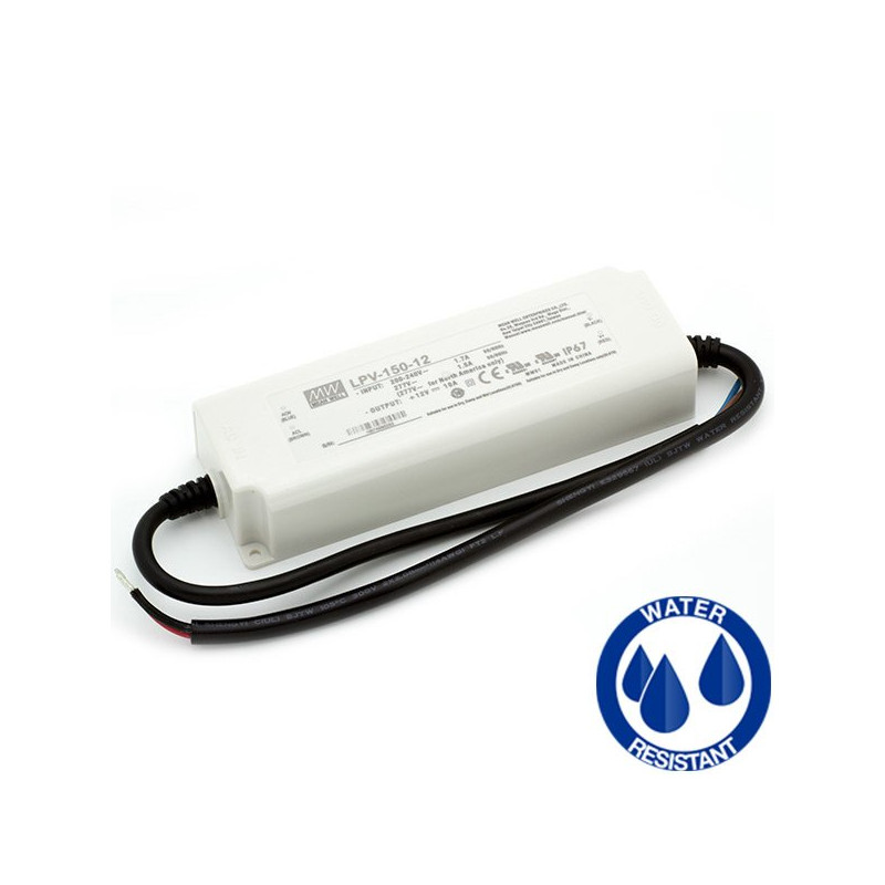 Transformador MEAN WELL 150W 12v, IP67