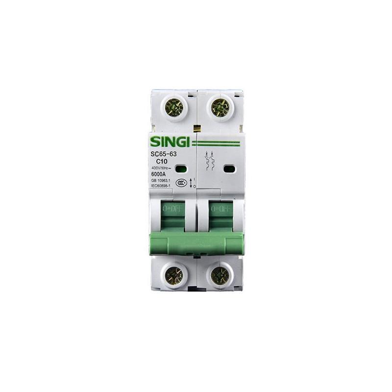 Circuit breaker 2P 6kA