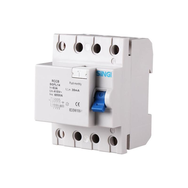 Interruptor diferencial 4P 6kA