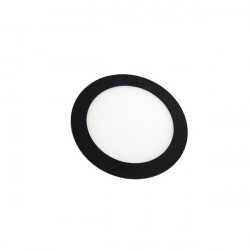 Downlight - Round 6W Panel BLACK