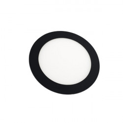 Downlight - BLACK Round 12W Panel