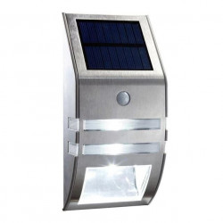 Aplique solar LED detector presencia color plata