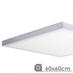 Panel LED superficie 60x60 48W marco blanco