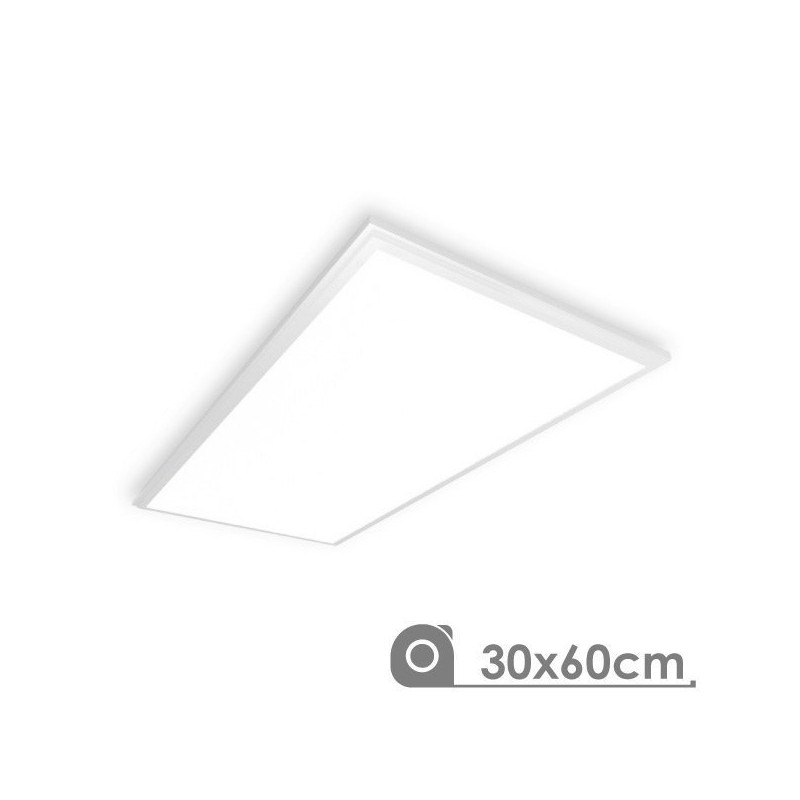Panel Led 30 x 60 cm 25W marco blanco