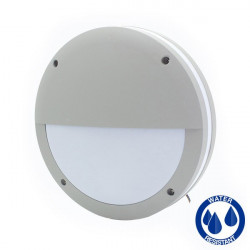 Ceiling lamp half moon aluminum IP65