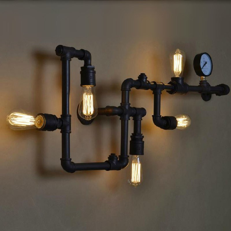 Industrial pipe wall lamp FACTORY3
