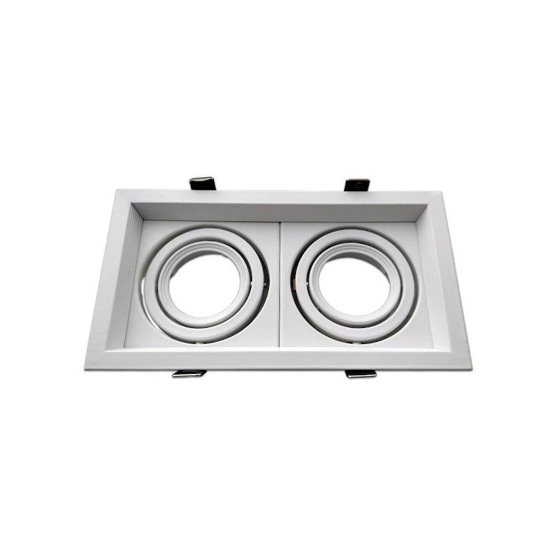 Cadre double orientable - MR16, blanc