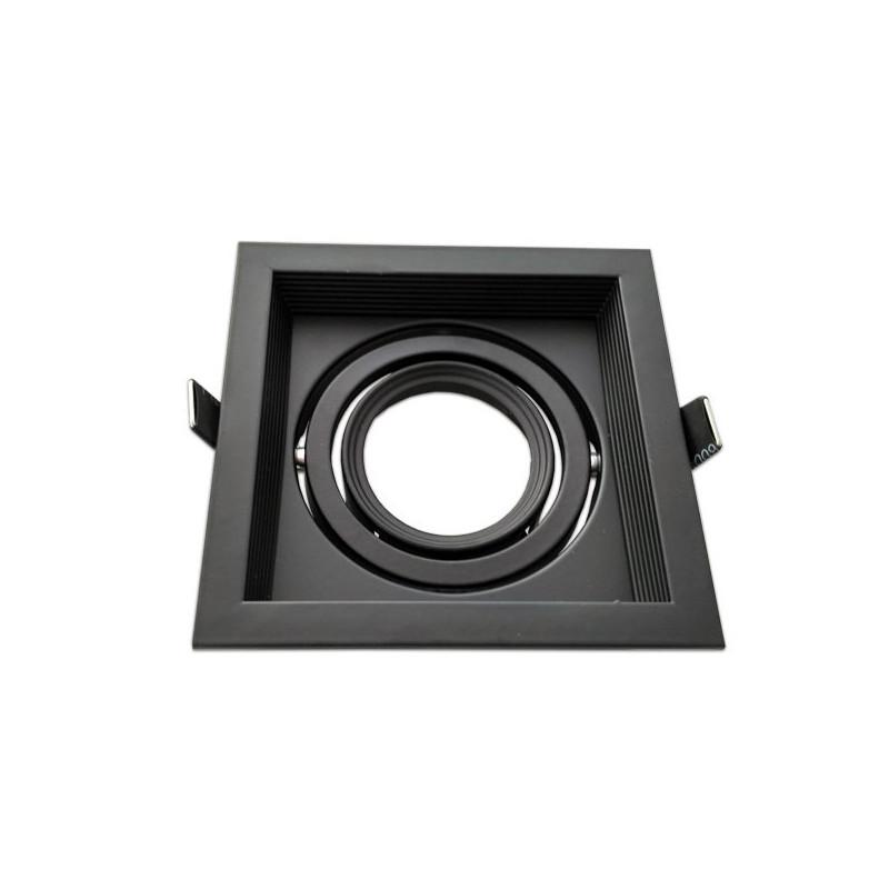 Moldura ajustável para MR16 negro