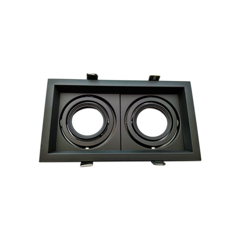 Adjustable black frame for MR16. Double