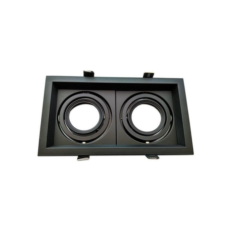 Cadre double orientable - MR16, noir