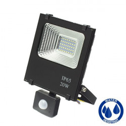 LED slim Floodlight - Presence Detector, 20W