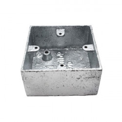 Caixa de superfície de mecanismos metálicos
