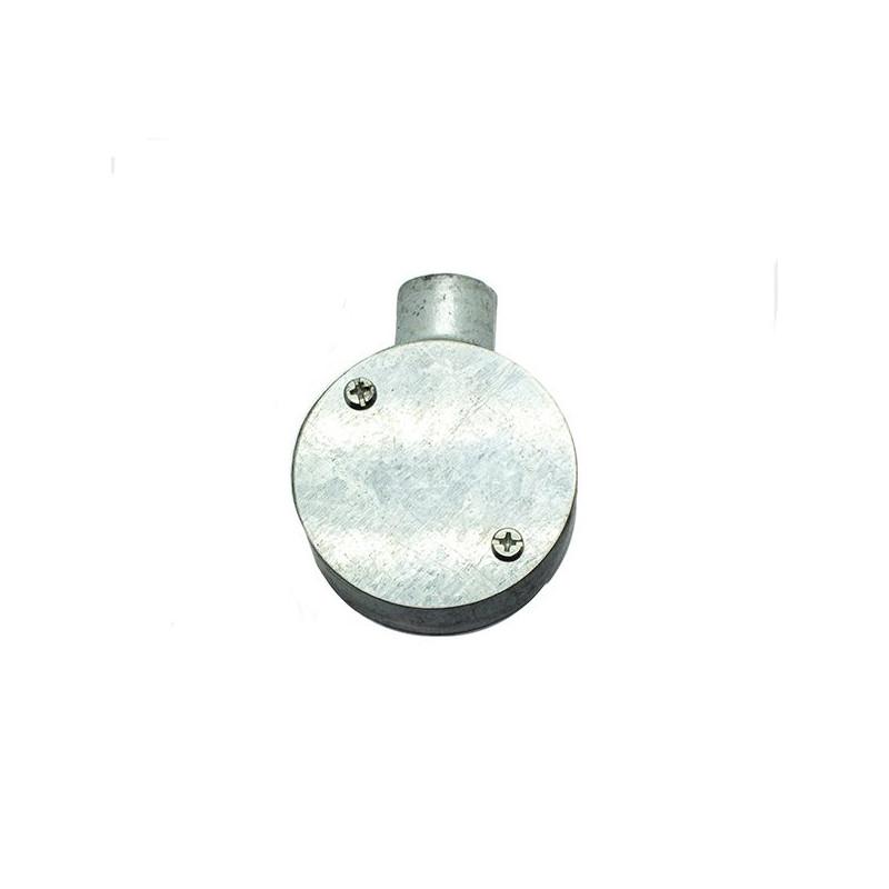 Caja terminal metálica redonda