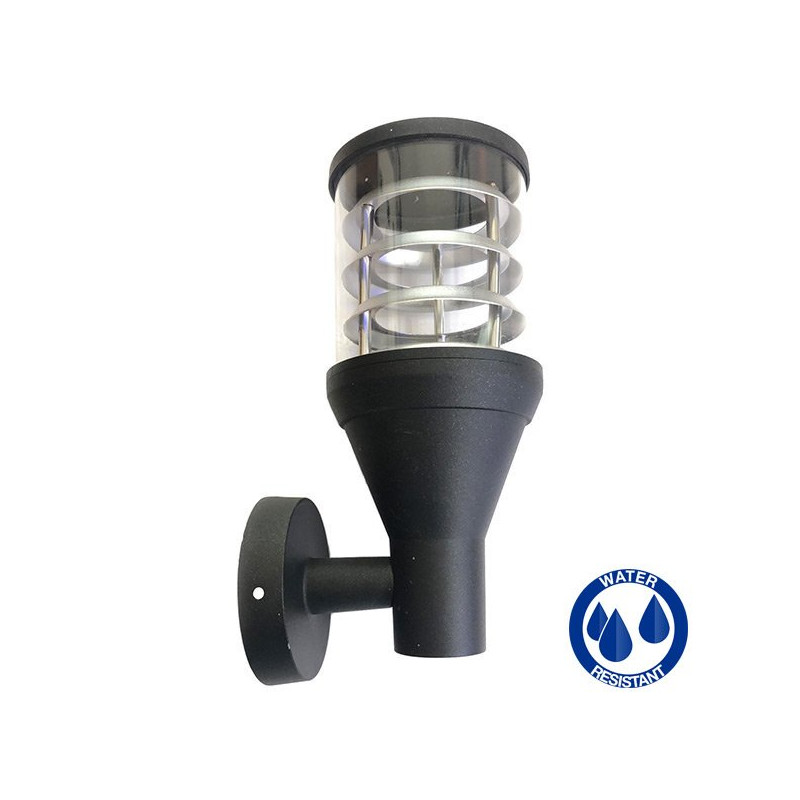 E27 black outdoor wall lamp