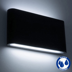 Aplique aluminio LED 2x6W IP65 color negro