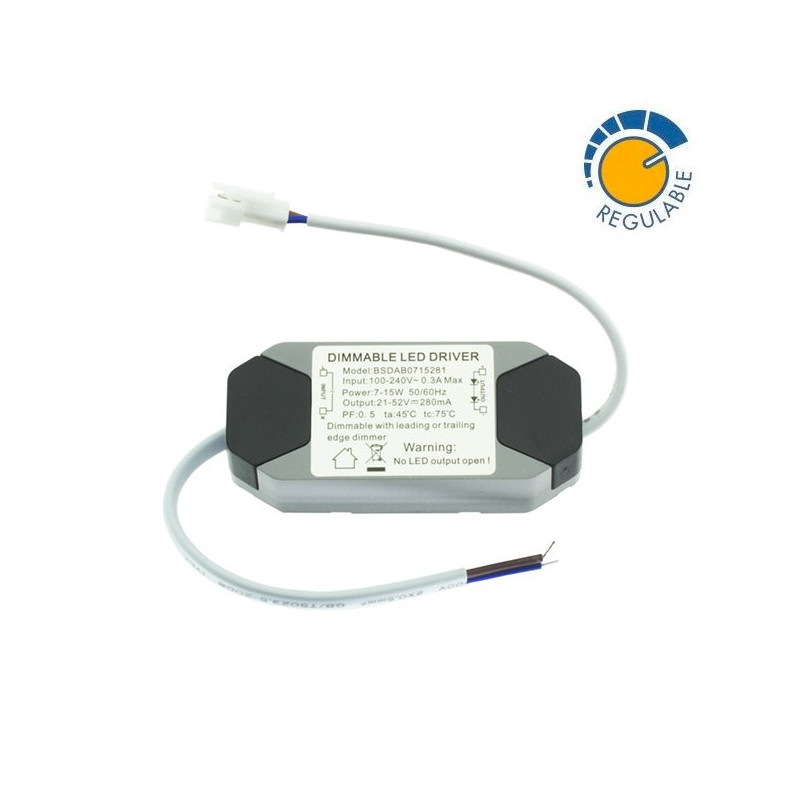 Driver 7W to 15W LED Downlight - DIMMABLE