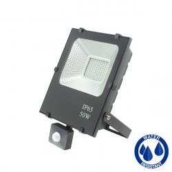 LED Floodlight with motion sensor, 50W