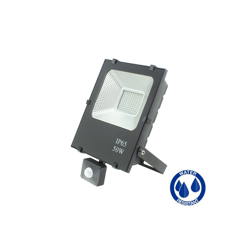 LED Floodlight - Motion sensor, 50W