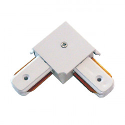 Connectable Rail Connector - Corner, White