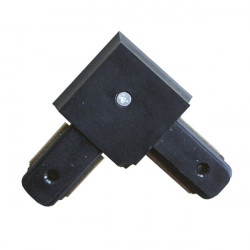 Connectable Rail Connector - Corner, Black