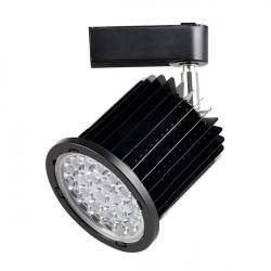 Foco carril negro 24W orientable