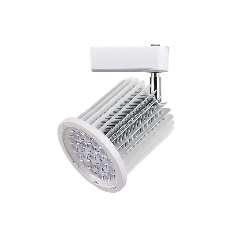 Foco carril blanco 36W orientable luz fría