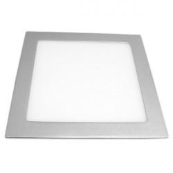 Dow. panel 18W cuadrado PLATA luz blanca