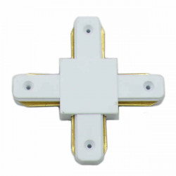 Connectable Rail Connector - Cross, White