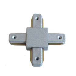 Connectable Rail Connector - Cross, grey