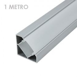 Profile for 1 m LED Strips - Corner, Aluminium