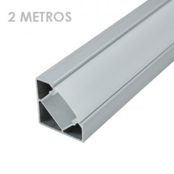 Profile for 2 m LED Strips - Corner, Aluminium