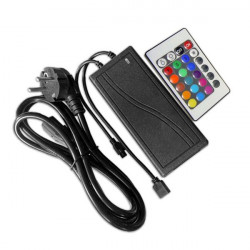 Controller + Transformer with Remote Control - 12V RGB LED Strip