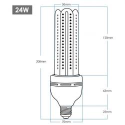Corn Bulb - 24W, 360º