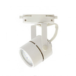 COMPACT Rail Spotlight - White, GU10 Lamps