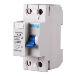 Residual current circuit breaker 2P 6kA
