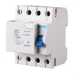 Residual current circuit breaker 4P 6kA