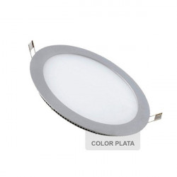 Downlight - SILVER Round 12W Panel