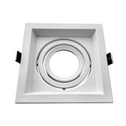 Adjustable white frame for MR16