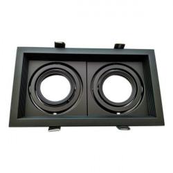 Adjustable black frame for MR16. Double