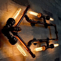 Industrial pipe wall lamp FACTORY14