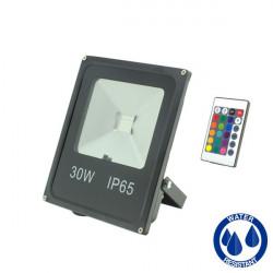 LED Floodlight with RGB Remote - 30W