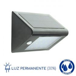 Aplique solar LED detector presencia 4W luz permanente