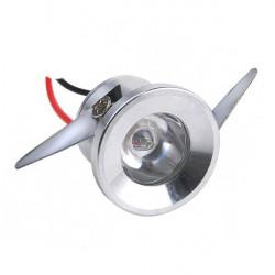 Downlight led mini 1W color plata