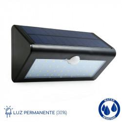 Aplique solar LED detector...